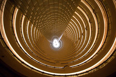 Interior view of the Jin Mao Tower stock photos