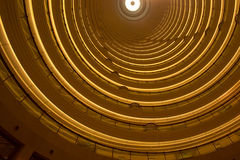 Interior view of the Jin Mao Tower in Shanghai stock photos