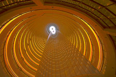 Interior view of the Jin Mao Tower in Shanghai Stock Photo