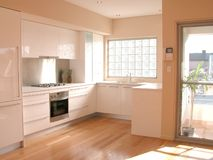Interior view of a kitchen. Interior view of a new kitchen renovation Stock Photo