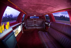 Interior view of a Limousine Stock Photos