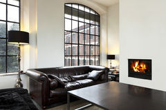 Interior, view of the living room Royalty Free Stock Image