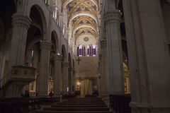 Interior view of Lucca Cathedral. Cattedrale di San Martino. Tuscany. Italy. Stock Image