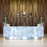 Interior view of luxury reception hotel. Royalty Free Stock Photos