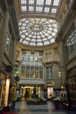 Interior view of Madlerpassage arcade in Leipzig. Leipzig, Germany – April 8, 2016. Interior view of Madlerpassage arcade, a lavish mix of neo-Renaissance and Stock Images