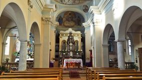 Altarr of Maria Assunta church royalty free stock photo