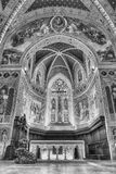 Interior view of the medieval Cathedral of Gubbio, Umbria, Italy Stock Image