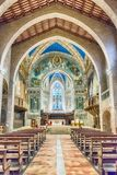 Interior view of the medieval Cathedral of Gubbio, Umbria, Italy Royalty Free Stock Image