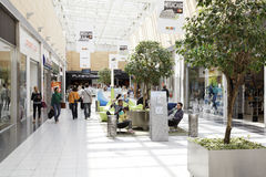 Interior View of Mega Mall Stock Image
