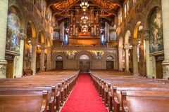 Interior view of the Memorial Church, Stanford University royalty free stock images