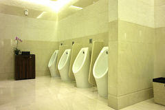 Interior View of Men's Toilet Royalty Free Stock Photos