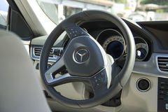Interior View Of Mercedes-Benz Car Royalty Free Stock Photo