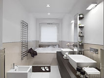 Interior view of a modern bathroom Stock Photography
