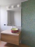 Interior view of a modern bathroom Stock Photos