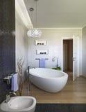 Interior view of modern bathroom Royalty Free Stock Photos