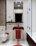 Interior view of a modern bathroom Royalty Free Stock Image