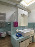 Interior view of a modern bathroom Royalty Free Stock Photography