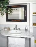 Interior view of modern bathroom Stock Photos