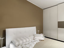 Interior view of a modern bedroom Royalty Free Stock Photo