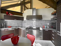 Interior view of a modern kitchen Royalty Free Stock Image