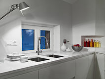 Interior view of a modern kitchen Stock Photos