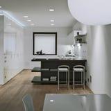Interior view of a modern kitchen Stock Photos