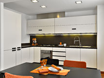 Interior view of a  modern kitchen Stock Image