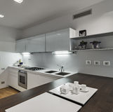 Interior view of a modern kitchen Stock Images