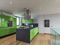 Interior view of a modern kitchen Royalty Free Stock Images