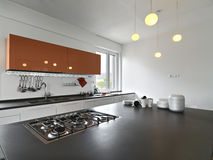 Interior view of a modern kitchen Royalty Free Stock Photo