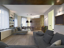 Interior view of a modern living room Royalty Free Stock Photography