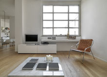Interior view of a modern living room Royalty Free Stock Photo