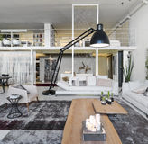Interior view of modern living room Stock Photos