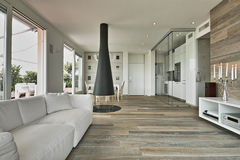 Interior view of a modern living room Royalty Free Stock Images