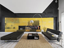 Interior view of a modern living room Royalty Free Stock Image