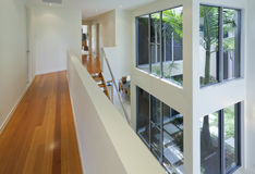 Interior view of modern multi level house. Interior view of modern multilevel house Royalty Free Stock Images