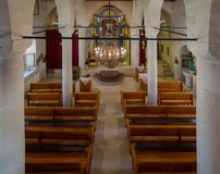 Interior view of Mor Petrus and Mor Pevlus church in the city of Adiyaman, Turkey Royalty Free Stock Image