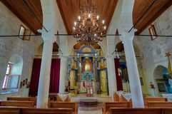 Interior view of Mor Petrus and Mor Pevlus church in the city of Adiyaman, Turkey Royalty Free Stock Images