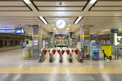 Interior view of MRT Station. stock photography