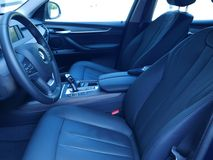 Interior view of a new BMW X5 Drive 3. 5i, Lima. Lima, Peru. December 9, 2016. Interior view of the german BMW X5 Drive 3. 5i new version for the year 2017 royalty free stock photos