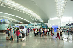 Interior view of Noi Bai International Airport Stock Photography