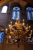 Interior view of Notre-Dame Cathedral Royalty Free Stock Photos