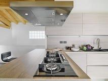 Interior view o modern kitchen Royalty Free Stock Photos