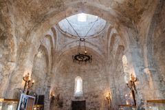 Free Interior View Of Kish Albanian Church Near Sheki, Azerbaijan Stock Images - 155169344