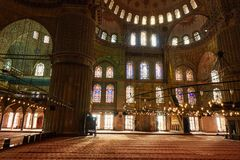 Interior View Of The Mosque Suleymaniye.Turkey Istanbul Stock Image