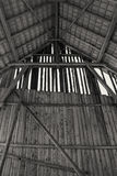Interior view of an old barn Royalty Free Stock Photo