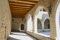 Interior view of Palace of Duques de Braganca, in Guimaraes, Portugal, north of the country. European Capital of Culture 2012 stock photo