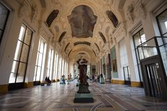 Interior view of the Petit Palais museum, built for the 1900 World Exhibition in Paris, France. . Interior view of the Petit Palais museum, built for the 1900 royalty free stock photography
