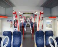 Interior view of a regional rail unit Stock Photo