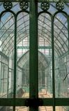 Interior view of The Royal Greenhouses at Laeken, composed of a complex of a number of greenhouses. The Castle of Laeken is home to the Belgian royal family royalty free stock photography